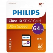 Card memorie SDXC, clasa 10, PHILIPS - 64GB