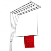 Wel-Tech Premium Stainless Steel Ceiling Pulley Cloth Drying Stand/Hanger (7 Feet 6 Pipes 42 Ft Drying Length)