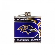 Great American Products Stainless Steel NFL Team Flasks Baltimore Ravens Gray