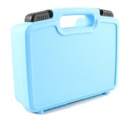 CASEMATIX Fun Blue Toy Box Case - Carry Learning Resources Gears! Gears! Gears! Deluxe Building Set - Fits Gear Toys , Base Plates , Pillars , Axles