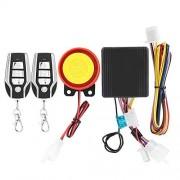 KIMISS Sistema de alarma universal de 12 V para motocicleta , sistema de alarma de seguridad antirrobo inalámbrico con 2 controles remotos 2A2