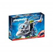 Helicoptero De Policia Playmobil Con Luces Led - 6921