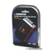 Adaptador SATA/IDE a USB 2.0 con respaldo Manhattan 179195