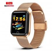 Reloj inteligente a la moda para hombres, mujeres, monitor de ritmo cardíaco, rastreador de presión