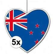 Geen 5x Nieuw Zeeland hangdecoratie harten 28 cm