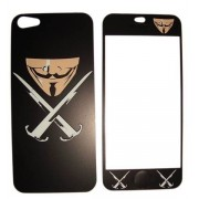 Folie protectie cu design iPhone 5 - Sword and mask ( fata + spate )