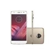 Smartphone Motorola Moto Z2 Play Dual Chip Android 7.1.1 Nougat Tela 5,5 Octa-Core 2.2 GHz 64GB Câmera 12MP - Ouro