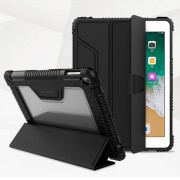NILLKIN Bumper Leather Cover Smart Case for iPad 9.7-inch (2018) [Imported TPU, PC and PU Leather Materials] - Black