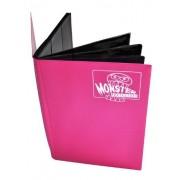 Monster Binder 9 Pocket Trading Card Album Matte Pink (Anti Theft Pockets Hold 360+ Yugioh, Pokemon, Magic The Gathering Cards)