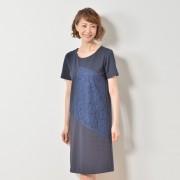 NbyA 異素材MIXデザイン切替ワンピース【QVC】40代・50代レディースファッション