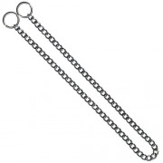 KH Hundhalsband strypkedja platta länkar förkromat stål 2.5mm x 40cm