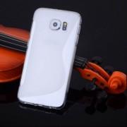 Husa Samsung Galaxy S6 G920 Silicon Gel Tpu S-Line Alba Semitransparenta
