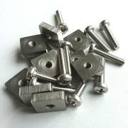 10x Schrauben + Plättchen M4x20mm US Box Finne