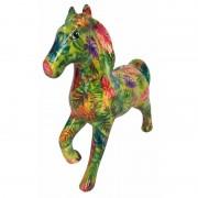 Pomme Pidou Spaarpot paard 21 cm bladeren print