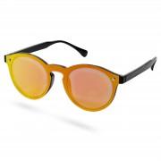 Paul Riley Irisierende Runde Orangefarbene Sonnenbrille