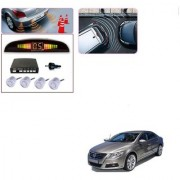 Auto Addict Car Silver Reverse Parking Sensor With LED Display For Volkswagen Passat