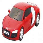 3 D Super Car Puzzle 61 Pcs Audi R8 V10 Car