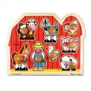 Melissa & Doug Personalized Farm Animals Jumbo Knob Wooden Puzzle