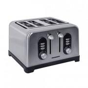 Prajitor de paine Heinner Toastit 1400 HTP-BK1400XMC, capacitate: 4 felii, putere: 1400-1600W, argintiu