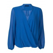 Fashionize Top Overslag Blauw