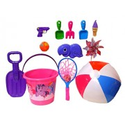 My Little Pony Fun in The Sun Sand Toys, Sandbox Toys, Beach Toys; Jumbo Sand Bucket & Sand Tools 14 pieces + FREE Childrens Sunglasse