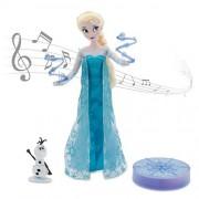 "Disney Frozen Elsa Deluxe Singing Doll Set Olaf - 11"" Sings & Glows"