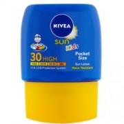 Nivea Dětské kapesní mléko na opalování SPF 30 Sun Kids (Pocket Size Face & Body Milk) 50 ml