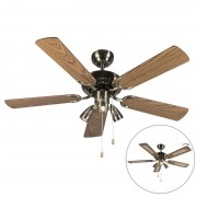 QAZQA Ceiling fan bronze - Mistral 42