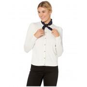 LAUREN Ralph Lauren Cotton Modal Long Sleeve Cardigan Mascarpone Cream