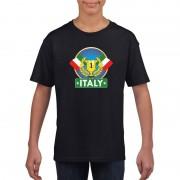 Bellatio Decorations Zwart Italie supporter kampioen shirt kinderen
