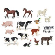 Babytintin™ FARM Animals Figures Set For Kids/Young Ones Pack Of 20 Animals (Big Size) (Multi Colour, Animals May Vary Pack To Pack)