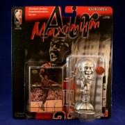 Michael Jordan / Chicago Bulls * Smiling Variation * Limited Edition Maximum Air Silver Edition Commemorative Figure & Upper Deck Nba Collector Card