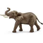 Schleich Male African Elephant Toy Figure