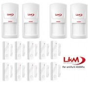 Kit sensori LKM Security® wireless per antifurti a 433 Mhz