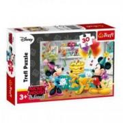 Puzzle 30 piese Trefl SellCroStore Mickey si Minnie Mouse