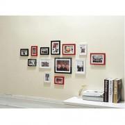 "ELECTROPRIME® Multi Aperture Photo Picture Frame - Holds 5""/ 7""/ 10"" Photos Portraits"