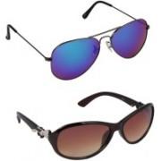 ROBMOB Aviator, Wayfarer Sunglasses(Multicolor)