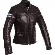 Segura Motorrad-Jacke Motorrad Schutz-Jacke Segura Retro Damen Lederjacke schwarz/blau 40 blau