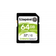 SD Kingston Canvas Select SDS 64GB class10 UHS-I SDXC(80MB/s-10MB/s)