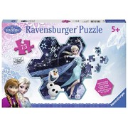 Ravensburger Disney Frozen Elsa's Snowflake Shaped Puzzle with Glitter (73-Piece)