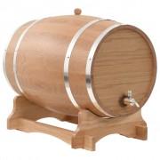 vidaXL Бъчва за вино с канелка, дъб масив, 35 л