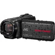 JVC GZ-R430BEU Videocamera Full HD QUAD PROOF (subacquea fino 5m e resistente a forti getti d'acqua, antiurto, antipolvere, anticongelamento), fotocamera 10 Megapixel, memoria interna 4GB, Nero