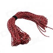 Paracaidas de supervivencia de alpinismo al aire libre 7 cuerdas cuerda - rojo + blanco (30m)