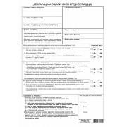 Deklaracija o carinskoj vrednosti robe (A4 set 4l. NCR) DCV