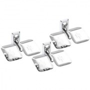 Set Of 3 Pieces Stainless Steel Double Soap Dish -Omni Series