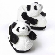 Merkloos Zachte dieren pantoffels panda
