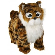 My Striped Kitty Walk Along Toy Stuffed Plush Cat w/ Realistic Walking Action, Sounds, Music (Colors May Vary)