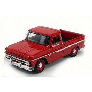 Motor Max 1966 Chevy C10 Fleet side Pick-Up Truck, Red - 73355AC/R 1/24 Scale Diecast Model Toy Car