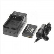 Ismartdigi LP-E 1200mAh bateria de la camara + cargador de coche para Canon - Negro