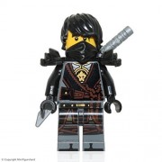 LEGO NinjaGo Minifigure - Cole (Hands of Time, w/ Black Armor) 2017